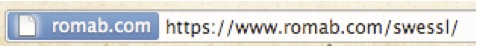 URL bar with ordinary SSL certificate